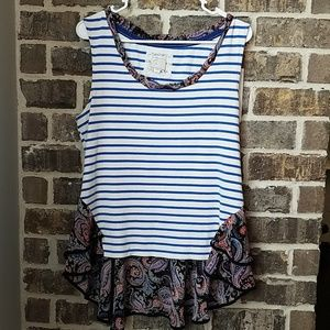 ❤Postmark Stripe and Floral Top